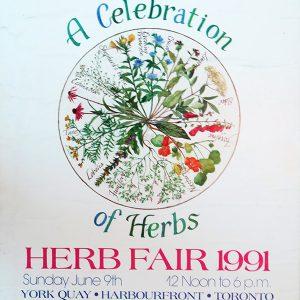 1991 Vintage Herb Fair Poster